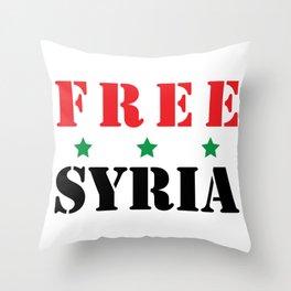 FREE SYRIA Throw Pillow