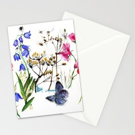 Wild Flowers Field Stationery Cards