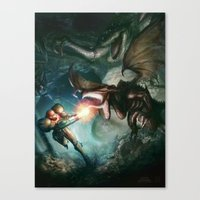 metroid Canvas Prints featuring Metroid by ImmarArt