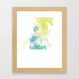 Technologies humaines Framed Art Print