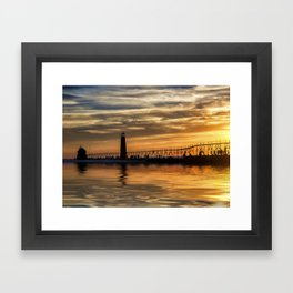 The Pier at Grand Haven Framed Art Print