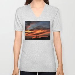 Smoke and Fire Unisex V-Neck