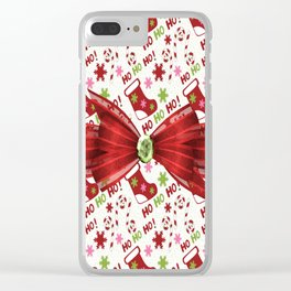 Christmas Stockings Clear iPhone Case