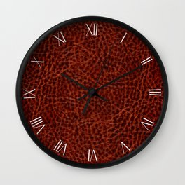 Rusty leather imitation background textured Wall Clock