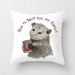 Soup Buddy Throw Pillow