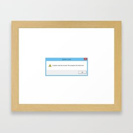 Windows Crash Framed Art Print
