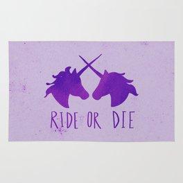 Ride or Die x Unicorns x Purple Rug