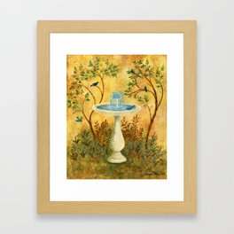 Peace Garden Framed Art Print