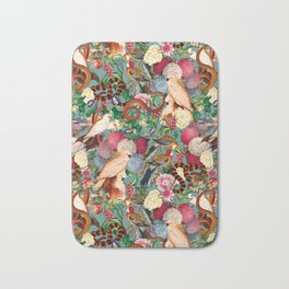 Floral and Animals pattern Bath Mat