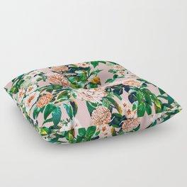 Pink garden Floor Pillow