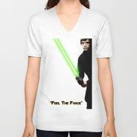 """luke hemmings V-neck T-shirts featuring """"Luke"""" by KL Design Solutions"""