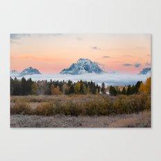 Autumn Sunrise in the Tetons Canvas Print