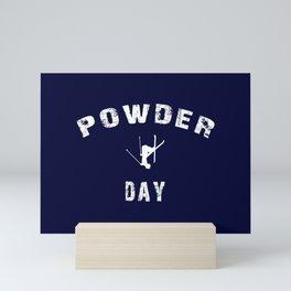 Powder Day Navy Blue Mini Art Print