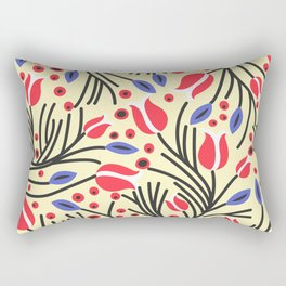 Waves of Flower (Bright Color Floral) Rectangular Pillow
