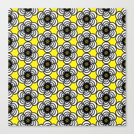 Yellow and Black Flowers Canvas Print