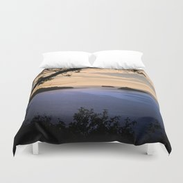 Thatchers Rock and Hope's Nose At Sunset Duvet Cover