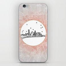 Houston, Texas City Skyline Illustration Drawing iPhone Skin
