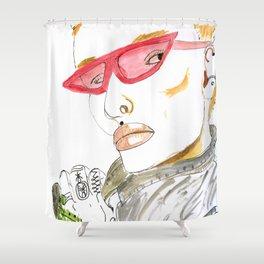 Fierce Face--Bowie inspired: #GenderNeutral #GenderEmpowerment Shower Curtain
