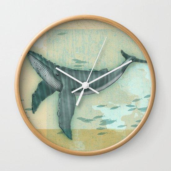 rhythm of the whale Wall Clock