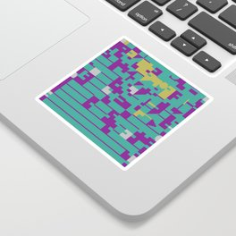 Abstract 8 Bit Art Sticker