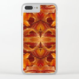 Fried Bacon Clear iPhone Case