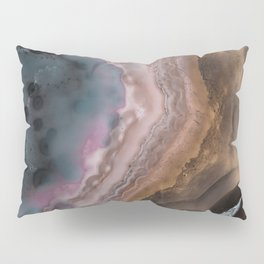 Multi-colored Agate slice Pillow Sham