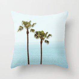 Morning in Laguna Beach Throw Pillow
