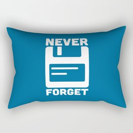 Never Forget Floppy Disk Geek Quote Rectangular Pillow