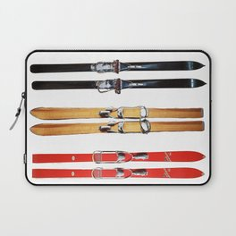 Old School Skis from Crow Creek Coolture Laptop Sleeve