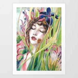 Water Nymphe Art Print