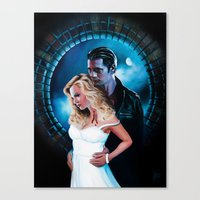 true blood Canvas Prints featuring True Blood - Sookie & Eric by Jaime Gervais