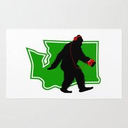 Bigfoot walk in Washington Rug