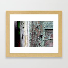 Green Barn Nails Framed Art Print