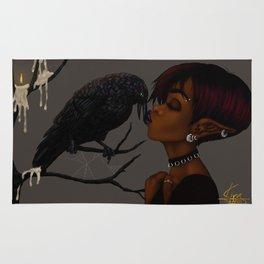 Kissing Crow Rug