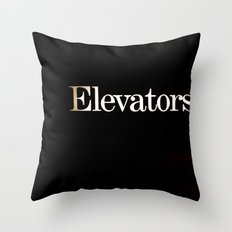 Elevators Throw Pillow