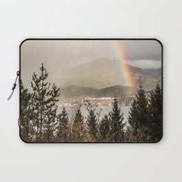 Rainbow In The Mountains | Lake In Norway Photo Art Print  | Nature Landscape Travel Photography Laptop Sleeve