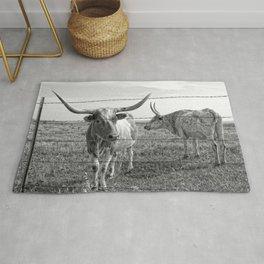 Longhorn Cows Rug