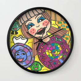 Girl in Candy Land Wall Clock