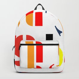 Bauhaus decor warm palette Backpack
