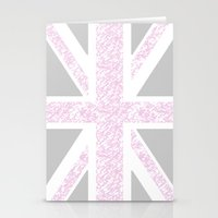 union jack Stationery Cards featuring Union Jack by Illusive Print
