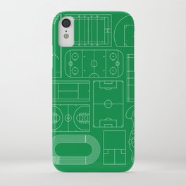 Sport Courts Pattern Art iPhone Case