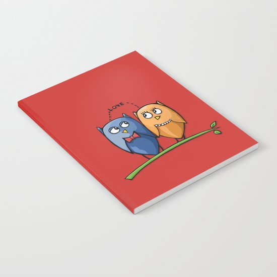 Owl Love red Notebook