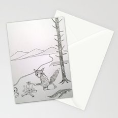 camping fox Stationery Cards