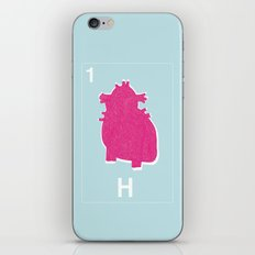 H for heart iPhone & iPod Skin