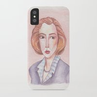 scully iPhone & iPod Cases featuring Scully by libbygrace
