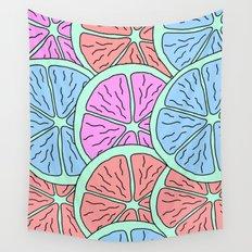 Spinning Citrus Wall Tapestry