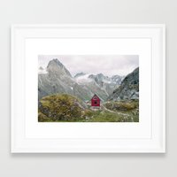 mint Framed Art Prints featuring Mint Hut by Kevin Russ