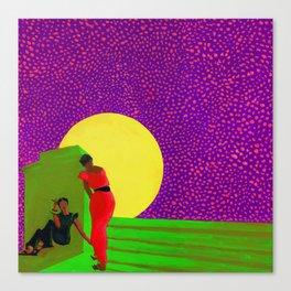 Midnight Chat Canvas Print