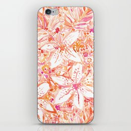 LILY SUNSET Peach Beachy Floral iPhone Skin