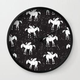 Pegasus Block Print Wall Clock